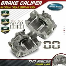 2x Brake Caliper w/ Bracket for Chevy Silverado GMC Sierra 1500 Yukon Rear LH&RH