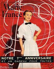 ▬►Marie France 363 de 1951 MODE FASHION_JEAN MARAIS (3 pages)