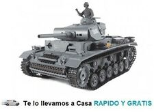 Tanque Radiocontrol Panzer Kampfwagen III AUSF Juguete Rc 1/16 RTR 3848-1