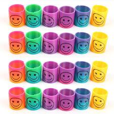 2x Slinky Smiley Mini Spring Party Bag Filler Wedding Kids Toy for Birthday gift