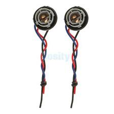 2X 1157 BAY15D 2357 Auto Turn Signal Light Socket Adapter Harness Wiring