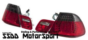 BMW E46 Coupe Facelift Style Smoked LED Rear Tail Lights Set Error Free UK Stock