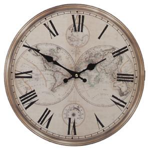 "Vintage Style Clock 34cm (13"") Antique Style Shabby Chic Roman Numerals 3D"