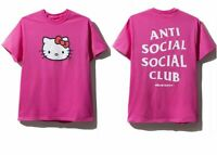 DS Anti Social Social Club ASSC x Hello kitty logo Pink Shirt XS S L