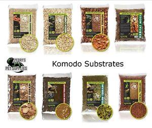 Komodo Substrates Aspen Bedding, Orchid Bark, Beech Chips, Tortoise, Straw, Moss