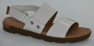 Sorel Womens Torpeda Flat Sandal Sea Salt (White), Elk (Brown) Size 9 NL2238-125