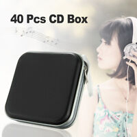 40 Disc Double-side CD DVD Storage Case Organizer Holder Hard Wallet Album Black