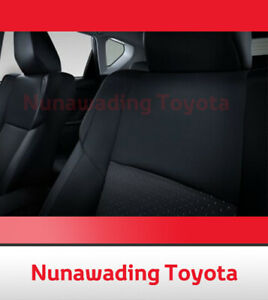 NEW GENUINE TOYOTA COROLLA ZRE182 HATCH FRONT SEAT COVERS FABRIC AUG 2012 ON