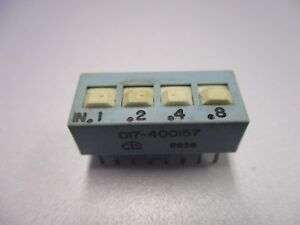 DIP Switch, 4 Position PC Mount DIP Switch (NOS, New Old Stock)(QTY 5 ea)D24
