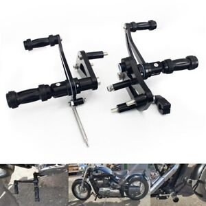 Compatible with Suzuki Volusia 800 2001-2004 Krator 2x Dually Style Foot Pegs Left /& Right Front Only