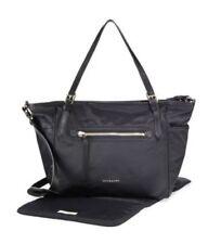 NWT NEW Burberry baby black nylon leather trim diaper bag changing pad +tx