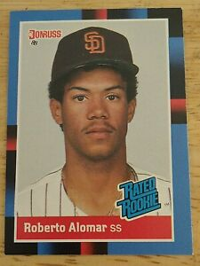 Roberto Alomar 1988 Donruss #34 Rookie Card/RC (San Diego Padres) Just Pulled