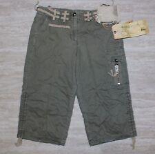 NEW Da-Nang Cargo Capri Cropped Pants Peridot Green Size LARGE TWM5021