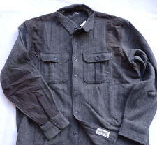 Ralph Lauren RRL DOUBLE RL PIONEER WORK WOOL SHIRT-Jacket Gr S DARK GREY