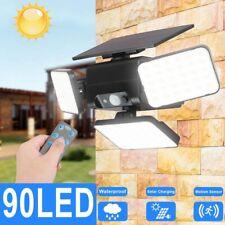 Solar Street Light 90LED Outdoor Dusk-to-Dawn Area Road Spotlight Motion Sensor