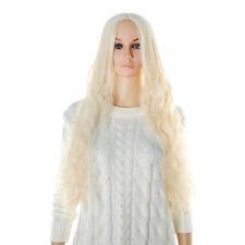 Long Wavy Light Blonde Cosplay Wigs 65cm Ladies Synthetic Hair Heat Resistant 1X