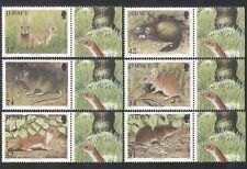 Jersey 2007 Animals/Wildlife/Rodents/Rabbits/Mouse/Rat  6v set (n35633)