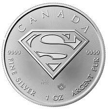 2016 Canadian 1oz Silver Superman: S - Shield $5 Coin .9999 Fine BU