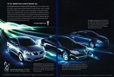 2009 Pontiac G6 G5 Vibe  2-page Advertisement Print Art Car Ad K60