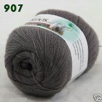 Sale 1 ball x50gr LACE Soft Crochet Acrylic Wool Cashmere hand knitting Yarn 907