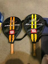 2 Pre Owned Wilson Tennis Racquet Kit for Juniors Rak.Attak 21/ 23 With covers