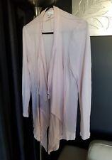 Witchery soft pink cardigan size L fit 12/14 100% merino fine wool