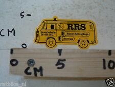 STICKER,DECAL RRS VW TRANSPORTER BUS T3  VAN BUS RIOOL-REINIGERS SERVICE VOLKSWA