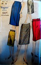 Vtg 60s Vogue 5593 SOPHISTICATED Details! Slim Pencil Skirt Drop Waist 26 H36 FF