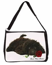 Poodle+Rose 'Love You Mum' Large Black Laptop Shoulder Bag School, AD-POD9RlymSB