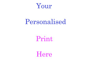 Personalised A4 Word Art YOUR OWN DESIGN Present Gift Photo Picture Print Image