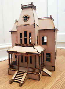 Bates Motel House Psycho Film Laser Cut Model Kit Wood