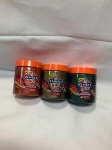 Elmer's GUE Pre Made Slime, 3 Models of Slime For Kids, 8 fl Oz New T2