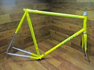 VINTAGE FAUST COPPI LUGGED COLUMBUS STEEL ROAD BIKE FRAME SET 60 x 59