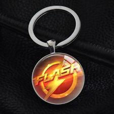 Keychains The Flash Superhero Keyring Key Ring Chain Bag Charm Pendant Gift