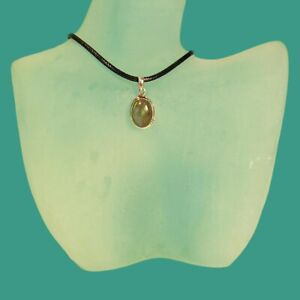 Green Labradorite Gemstone 925 Sterling Silver Handmade Pendant 3 Grams