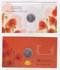 "2010 20c UNC COIN IN CARD ""AUSTRALIA REMEMBERS LOST SOLDIERS OF FROMELLES"""