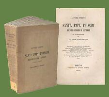 Lettere inedite di Santi Papi Principi Tipografia Eredi Botta 1861 Cibrario