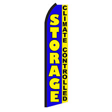 Storage Climate Advertising Sign Swooper Feather Flutter Banner Flag Only