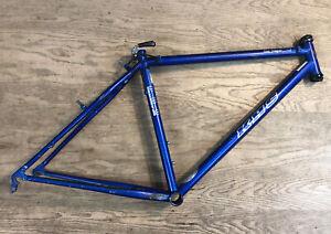 """KHS Montana Pro Mountain Bike Frame True Temper OX Ultra II Steel 26"""" 18"""" Blue"""
