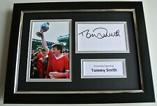 Tommy Smith SIGNED A4 FRAMED Photo Autograph Display Liverpool Football & COA