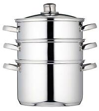 KitchenCraft Induction-Safe Stainless Steel 3-Tier Food Steamer Pan / Stock...