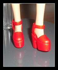 SHOES GALOOB CELEBRITY FASHION DOLL GINGER SPICE RED PLATFORM SHOES ACCESSORY