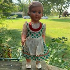VINTAGE GERMAN ANTIQUE CELLULOID DOLL. HELGA. 1930s. STORCH