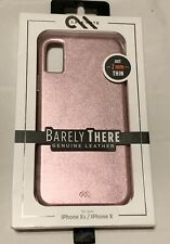 Brand NEW OEM Case-Mate Barely There Genuine Leather for iPhone X/Xs