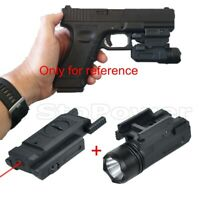 Tactical Airsoft Glock Flashlight Red Dot Laser Sight Combo LED for 20mm Rail US