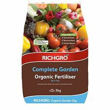 Richgro COMPLETE GARDEN ORGANIC FERTILISER 5kg Boost Growth & Health Aust Brand