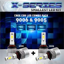 9006 9005 4PCS LED Total 400W 40000LM CREE Headlight High 6000K White Kit - (D)