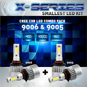9006 9005 4PCS LED Total 400W 40000LM CREE Headlight High 6000K White Kit - (D)