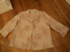 . blue illusion   linen floral beige jacket 2L as bought