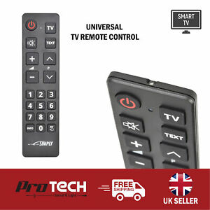 Universal TV Remote Control Simple Big Button Easy Read Smart TV Controller